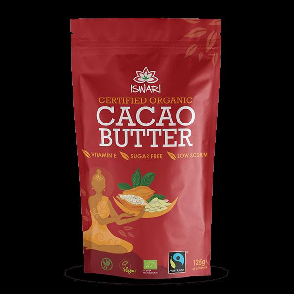 Manteiga de Cacau Bio FairTrade 125g UK