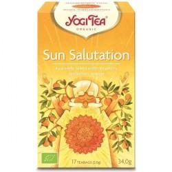 Infusão Bio de Especiarias, Chicória e Frutos Sun Salutation - Yogi Tea (17 saquetas)