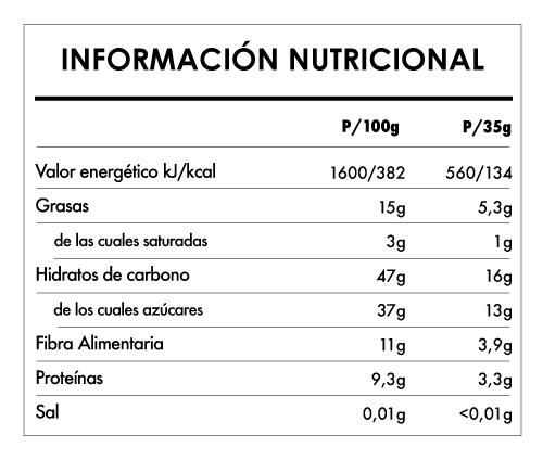 Tabela Nutricional - Buddha Energy Bar Cacao Guaraná (15x35g)