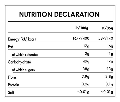 Tabela Nutricional - Buddha Energy Bar Maca & Vanilla  (15x35g)