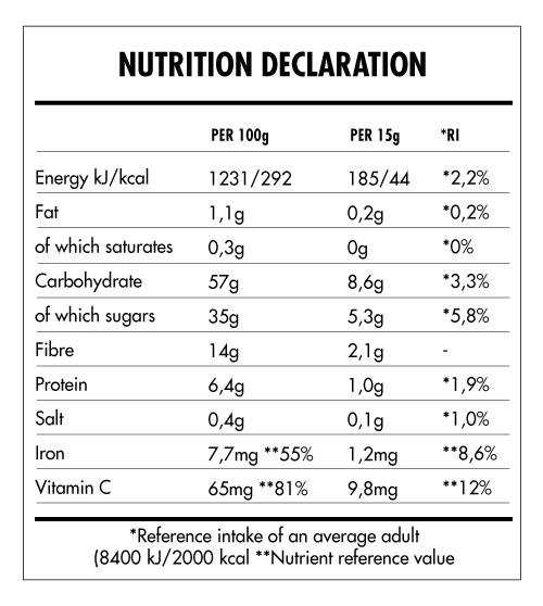 Tabela Nutricional - Super Vegan Boost