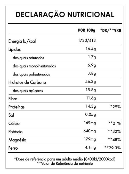 Tabela Nutricional - Despertar de Buda Maca Baunilha