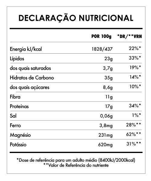 Tabela Nutricional - Despertar de Buda Cacau On the Go