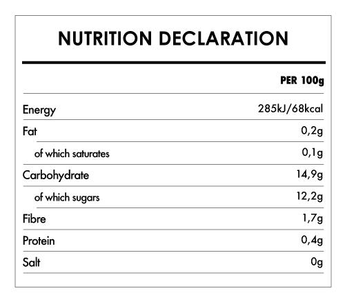 Tabela Nutricional - Organic Apple and Banana Puree - Naturefoods (350g)
