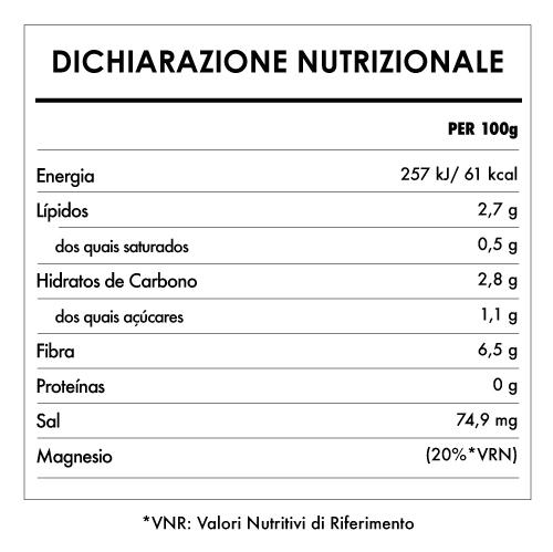 Tabela Nutricional - Tofu Bio Compatto e Vellutato - Clearspring (300g)