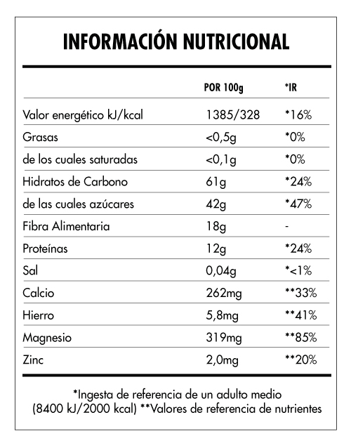 Tabela Nutricional - Super Vegan Roots