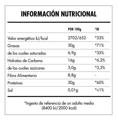 Tabela Nutricional - Super Vegan Nut Butter