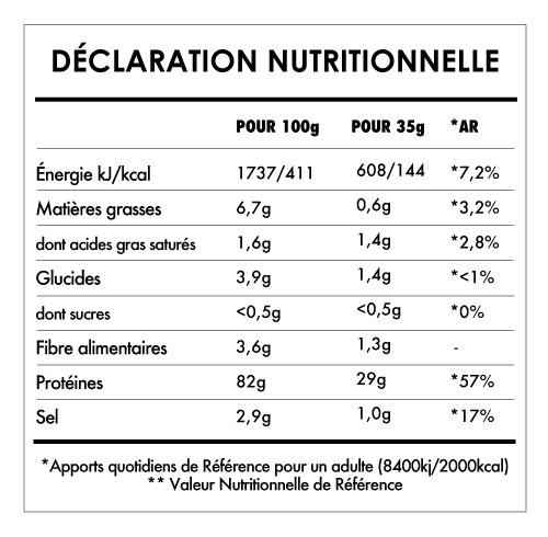 Tabela Nutricional - Super Vegan Protein
