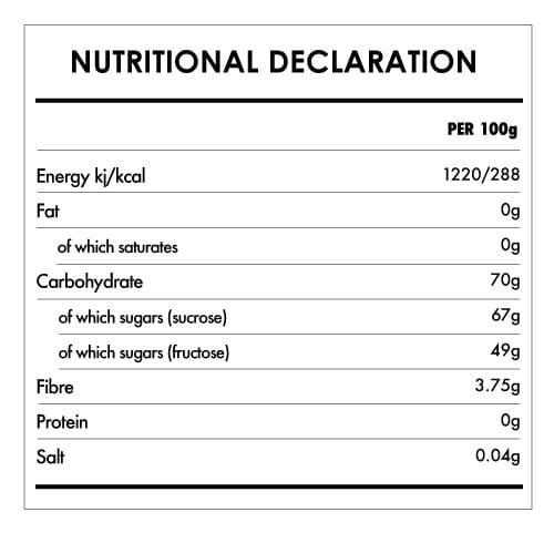 Tabela Nutricional - Agave Nectar