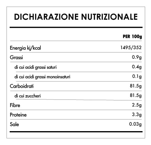Tabela Nutricional - More di Gelso Bianco