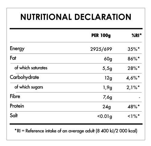 Tabela Nutricional - Almond Butter Bio