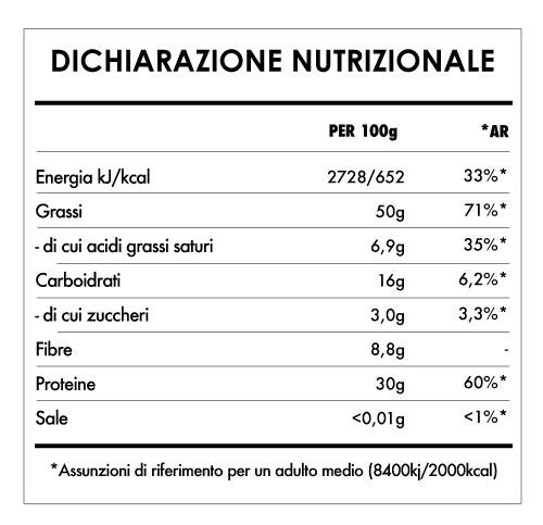 Tabela Nutricional - Burro di Arachidi Cremoso Bio