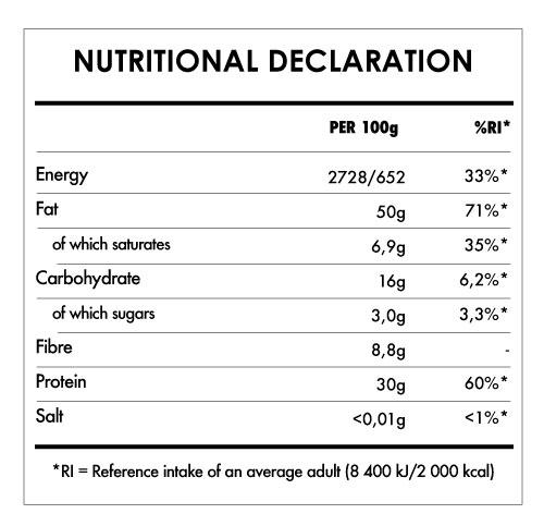Tabela Nutricional - Creamy Peanut Butter Bio