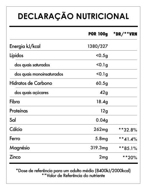 Tabela Nutricional - Maca Powder
