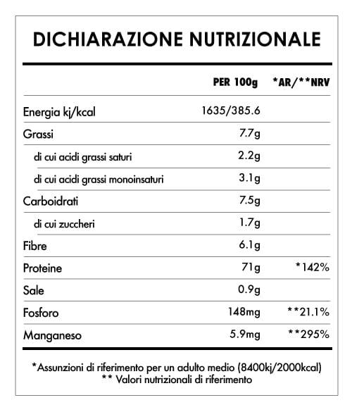 Tabela Nutricional - Super Green Protein
