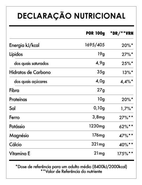 Tabela Nutricional - Açaí Liofilizado